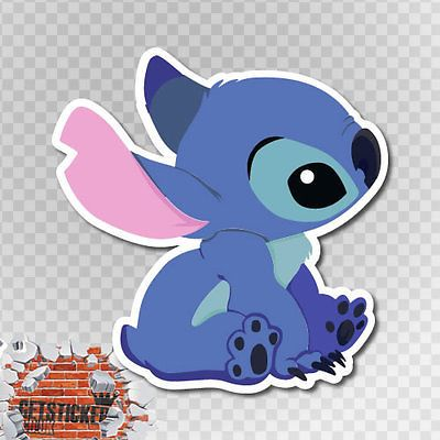 Stitch cute sitting vinyl decal sticker car van bike funny window bumper jdm vw