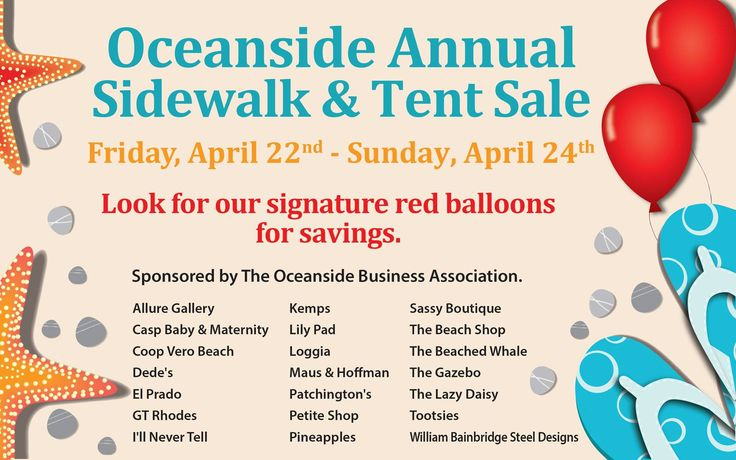 Don't miss out - it only happens once a year and it all starts TODAY, Friday, April 22nd, 2016 and ends on Sunday, April 24th, 2016! ❤ #thesmallrealtygroup #oba #verobeach #oceansidebusinessassociation #verobeachliving #florida #sale @sidewalkandtentsale