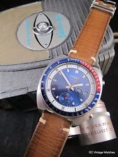 NEW DC VINTAGE WATCHES AUCTION: Vintage 1975 Seiko 6139-6002 Automatic Chronograph, w/Handmade Leather Strap