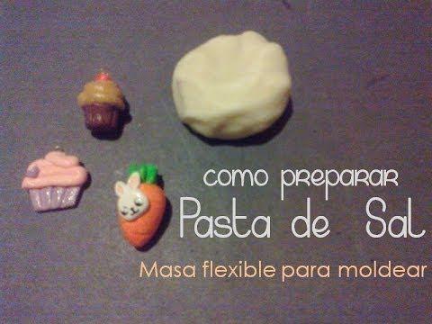 ▶ Pasta de sal   Masa flexible para moldear   FACIL - YouTube
