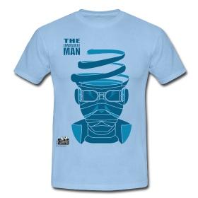 UOMO INVISIBILE  Magliette classiche da uomo  T-shirt con taglio classico, da uomo, 100% cotone, marca: B