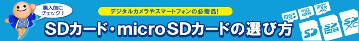 デジタルカメラやスマートフォンの必需品! SDカード・microSDカードの選び方