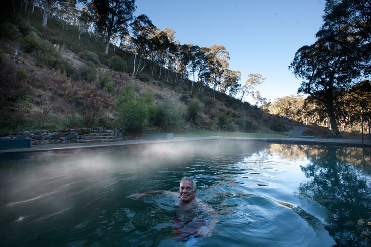 The thermal pool at Yarrangobilly Caves is at 27 degrees year round. After a swim take a walk along the many trails around the area