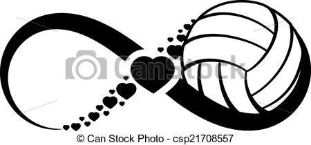 Vector - voleibol, amor, infinito - stock de ilustracion, ilustracion libre de, stock de iconos de clip art, logo, arte lineal, retrato de EPS, Retratos, gráficos, dibujos gráficos, dibujos, imágenes vectoriales, trabajo artístico, Arte Vectorial en EPS