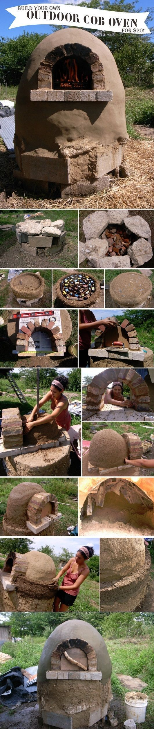 How To Build An Outdoor Cob Oven For $20 use hypertufa! There is a product for heat in the oven part!