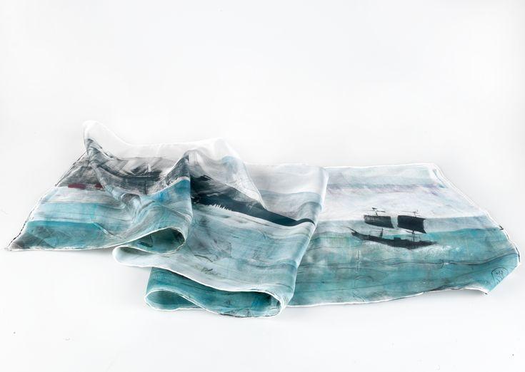 Daubs & Dashes: Esja silk scarf - Iceland Collection A/W 16
