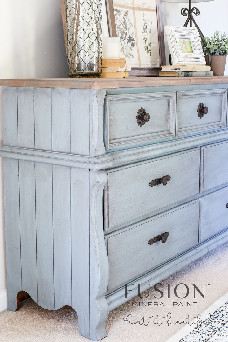 When I first started painting furniture pieces to sell about 4 years ago, I wanted to antique finish everything. Dark wax was all the rage and every piece