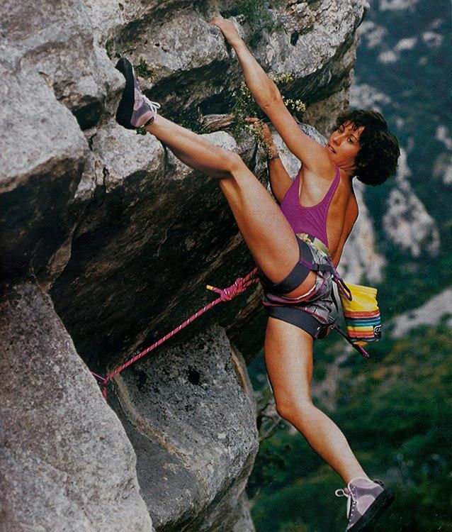 This French climber is one of the most recognizable faces in rock climbing. Catherine Destivelle was the first woman to successfully solo ascend the Eiger's North face and did it in under 15 hours.