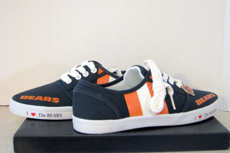 Chicago Bears NFL Women's Canvas Sneakers Gym Shoes Bradford Exchange Size 7 | eBay