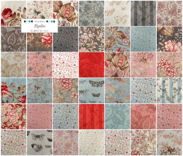 Moda Charm Pack Quilt Fabric Squares 3 Sisters Papillon cotton quilting fabrics