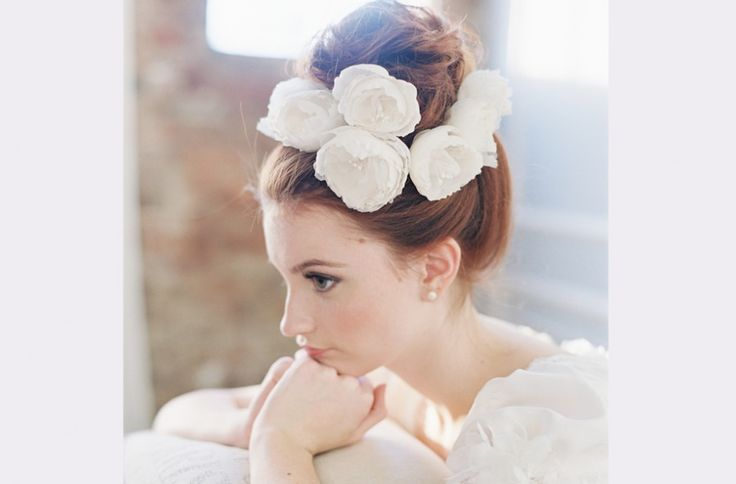 Ode to love silk flower hair pin set