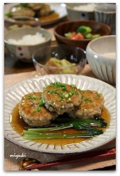 れんこんとしめじの鶏つくねバーグ 和風あん by miyukiさん | レシピ ...