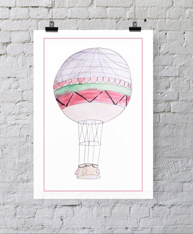plakat balon róż