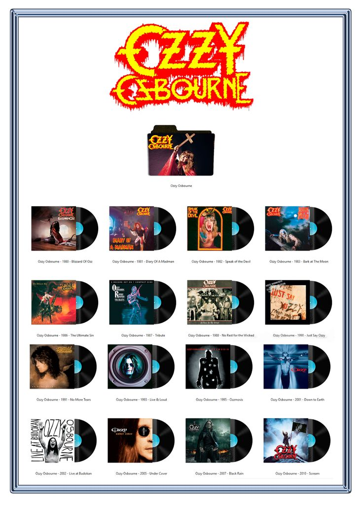 Album Art Icons: Ozzy Osbourne Discography Icons (ICO & PNG)