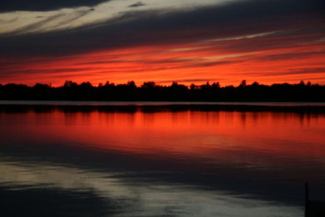 Sunset in the Kawartha Lakes, Ontario. So peaceful.....