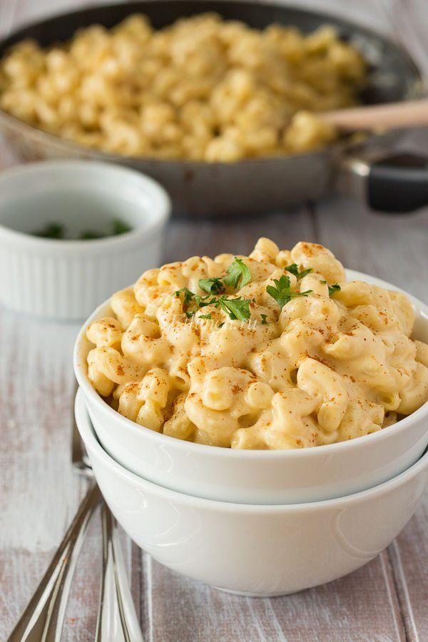 вегансие макароны с сыром
