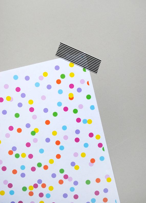 printable 'confetti' paper. Find exceptional gifts for her at: www.niiche.co.uk