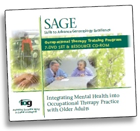 SAGE: Skills to Advance Gerontology ExcellenceIntegrating Mental Health into Occupational Therapy Practice with Older Adults fromWayne State University Institute of Gerontology Website.  Pinned by ottoolkit.com your source for geriatric occupational therapy resources.