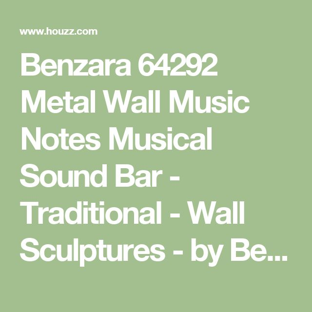 Benzara 64292 Metal Wall Music Notes Musical Sound Bar - Traditional - Wall Sculptures - by Benzara, Woodland Imports, The Urban Port