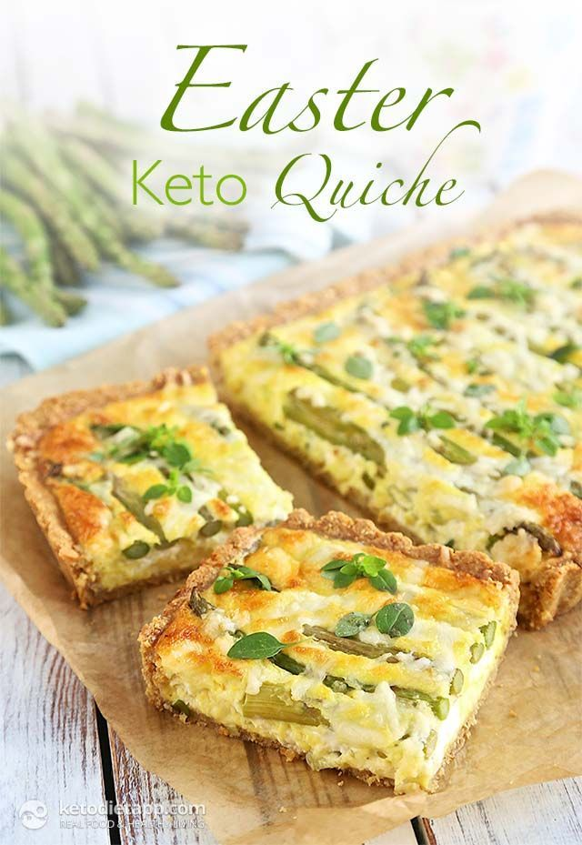 Easter Keto Quiche (keto, low-carb, primal)
