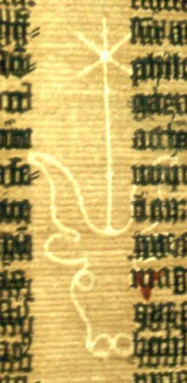 Biblia de Gutenberg: Marca dágua do papel em que foi impressa