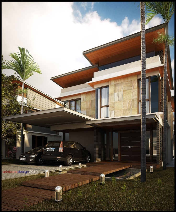 Modern tropical minimalist house