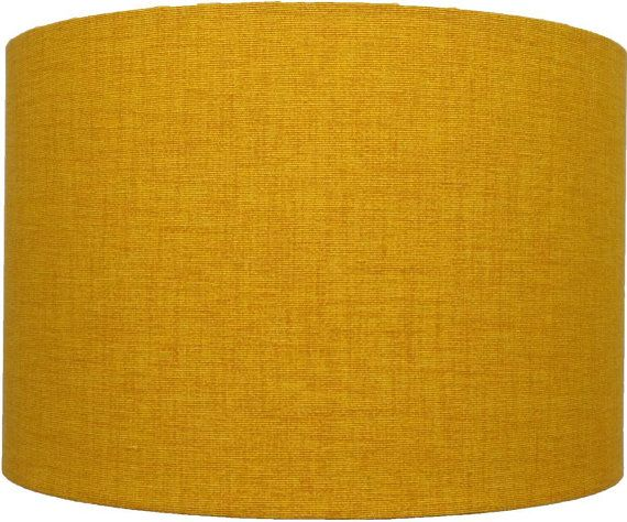 You are bidding on a New Mustard/Golden Yellow Double Weave Linen light and dark Effect Lampshade , Not a solid color. Each shade is individual due to
