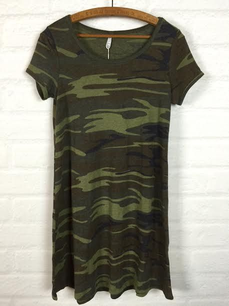 Z Supply The Connor Camo Dress In Green