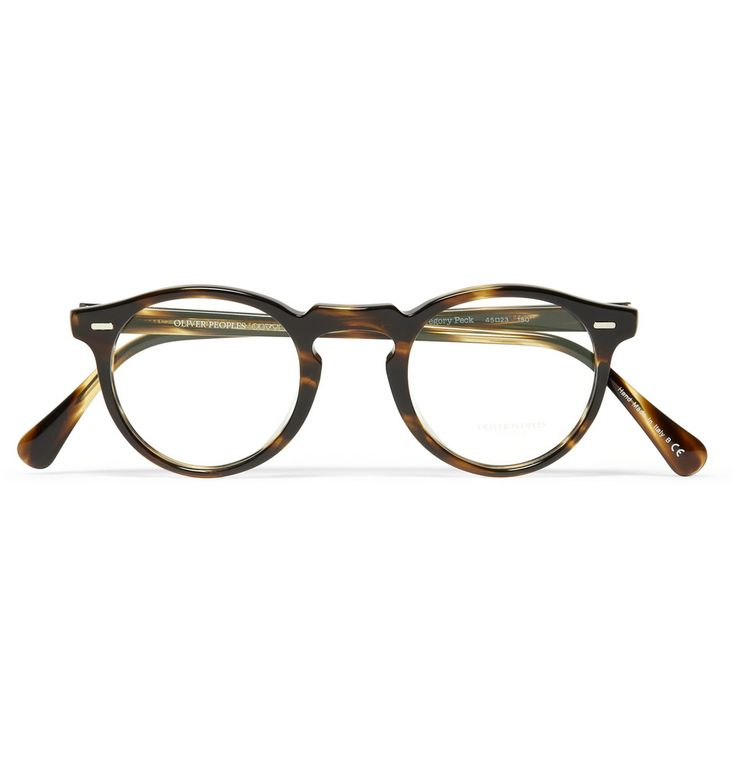 Classic Gregory Peck tortoiseshell (or is that Cocobolo with Olivine?) glasses by Oliver Peoples. 1930s/40s style. Super chic. I want me some Gregory Specs! Product code 194922 at Mr Porter.