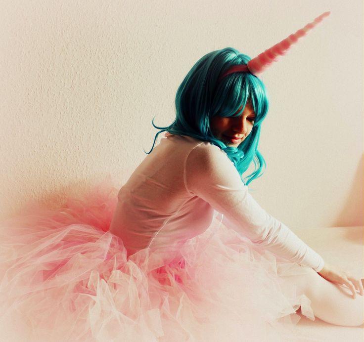 Lichtstaubmelodie: Selbstgemachtes Einhorn - Kostüm