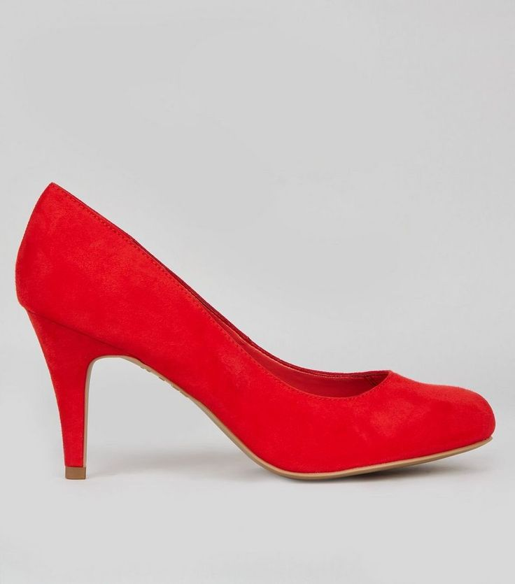 New Look(ニュールック)   New Look Wide Fit Red Suedette Court Shoes - MILANDA(ミランダ)通販