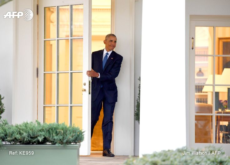 US President Barack Obama departs the Oval Office for the last time as president, at the White House in Washington, DC January 20, 2017. JIM WATSON / AFP