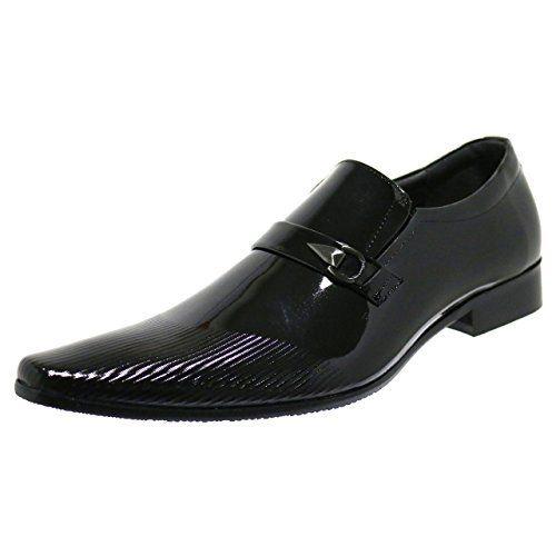 Robelli Designer Herren Kunst Weiche Patent Streifen Leder-slipper Formelle Schuhe - http://on-line-kaufen.de/robelli/robelli-designer-herren-kunst-weiche-patent