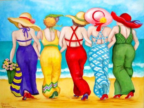BEACH GIRLS (391 pieces)Image copyright: Denise Iverson