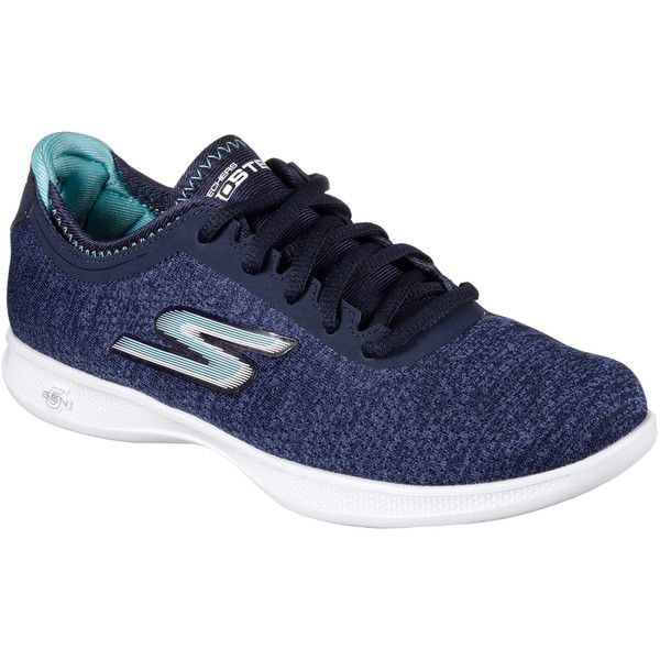 Skechers Women's Skechers Go Step Lite - Agile Navy - Skechers... (3.755 RUB) ❤ liked on Polyvore featuring shoes, navy, skechers footwear, navy platform shoes, navy blue platform shoes, lace up shoes and laced up shoes