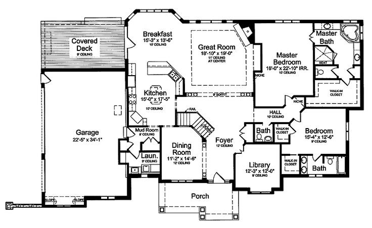 master suite floor plans Two Master Bedrooms (HWBDO59035