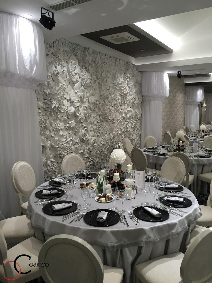 Panouri din polistiren 3D cu model floral pentru saloane de evenimente si nunti