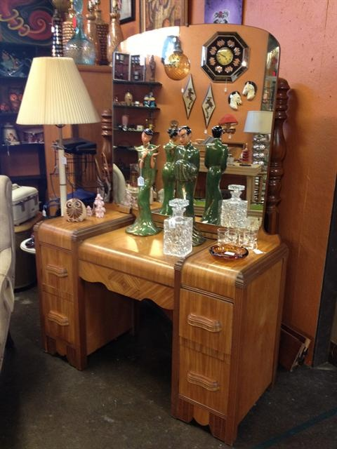1940s Waterfall Bedroom Set Antique Furniture Home Decor Sets
