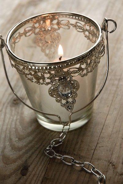 191 best light my world images on pinterest diy candle for Diy hanging tea light candle holders