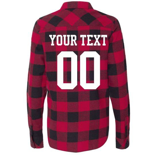d7af7a517ad Customize a super cozy plaid flannel for the ultimate sports fan to wear to  all of their favorite team s games this fall winter! Add personalized text  and a ...
