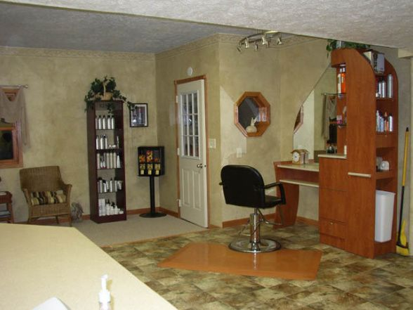 Small Space Hair Salon Ideas | ... Shop - Salon - Garage Designs - Decorating Ideas - HGTV Rate My Space