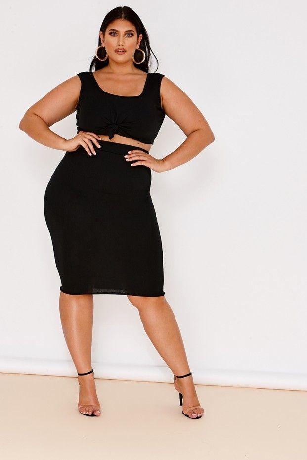 03997d0727e Curve latecia black ribbed high waisted skirt | La'Tecia 5 | High ...
