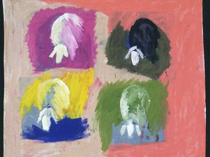 4 herd 1 by Menashe Kadishman