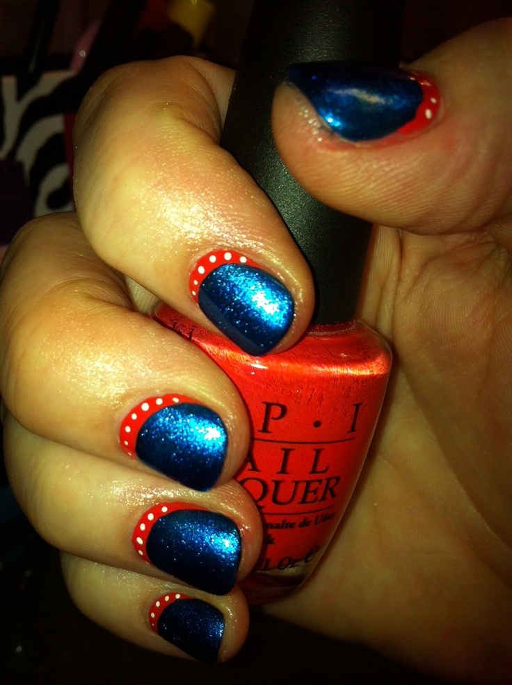 40 best nails thunder images on pinterest thunder nail art thanks patti for the great okc thunder nails prinsesfo Image collections