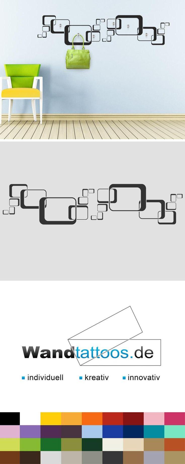 Wandtattoo Garderobe Retro Ornament als Idee zur individuellen Wandgestaltung. Einfach Lieblingsfarbe und Größe auswählen. Weitere kreative Anregungen von Wandtattoos.de hier entdecken!