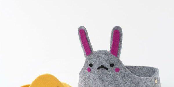 Pasqua: come fare cestini porta uovo in feltro – Tutorial e cartamodelli