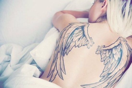 Wing tattoos R the great on a Girl