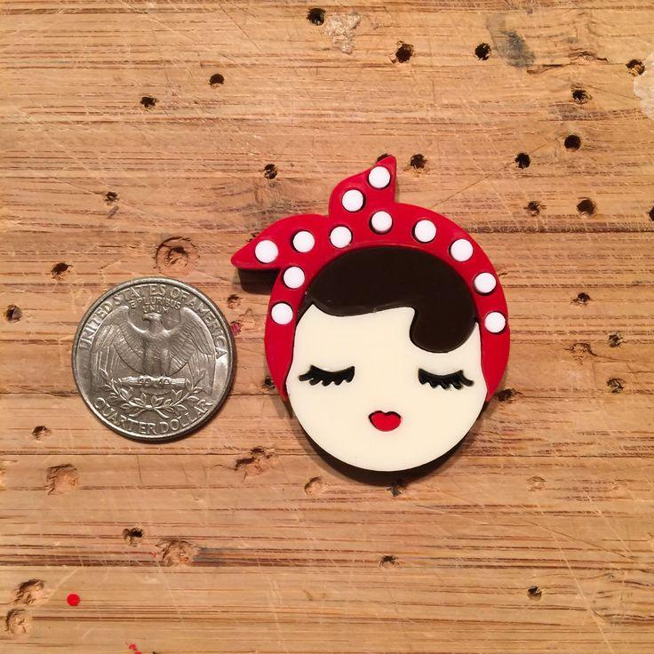 Rosie The Riveter brooch (mini)