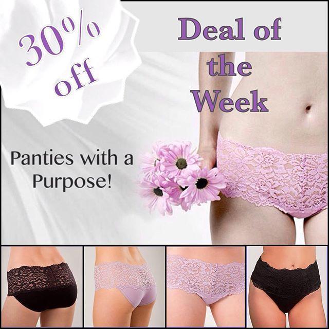 """Week 4 of """"7 Weeks of Sales"""". This week take 30% off of Cheeky Gals favourite panties #cheekycouturesboutique #bestundies #comfortable #pretty"""