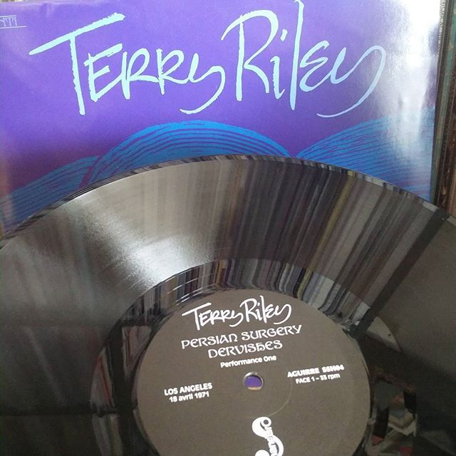 Records like this make weekends special. Such amazing music and great reissue from Belgium. Terry Riley's Persian Surgery Dervishes #terryriley #persiansurgerydervishes #aguirrerecords  #minimalism #usmusic #shandarrecords